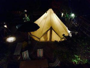 グランピングエリア(夜)